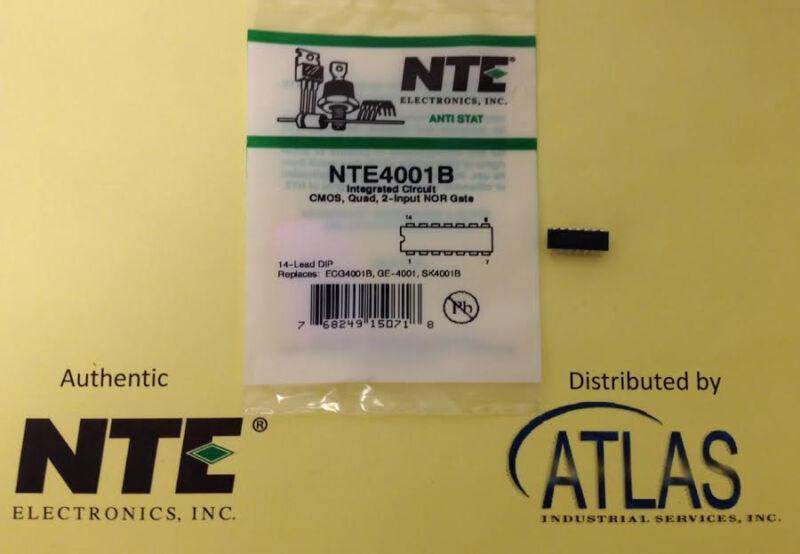 NTE NTE4001B IC, CMOS, QUAD, 2-Input NOR Gate