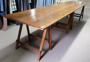 Extra Long Trestle Table - Perfect for a Cafe or Alfresco Geelong Geelong City Preview