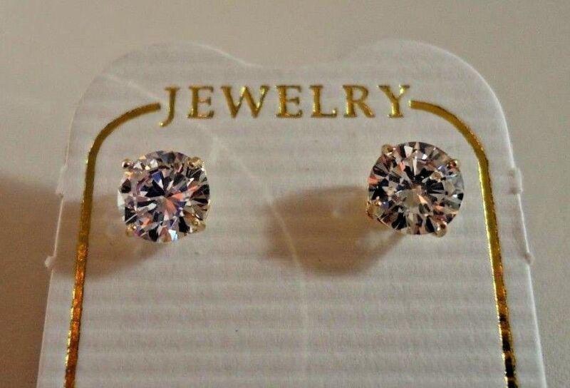 f0cd6df89 ... 14K SOLID YELLOW GOLD STUD EARRINGS W/ .50 CT FLAWLESS DIAMONDS/ 5MM IN  ...