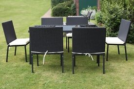 Brand NEW 7 piece table and chairs with cushion pads Christmas SALE bargain Everything must Go