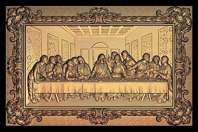 The Last Supper Christianity Jesus 3d STL models used for cnc artcam 3d relief