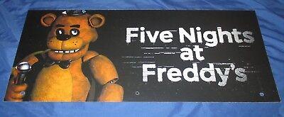 SPIRIT HALLOWEEN Store Exclusive Display Sign FIVE NIGHTS AT FREDDY'S (Halloween Spirits Store)