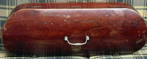 Antique Double Violin Case Georgian Style Old Hardware Poss English Orig