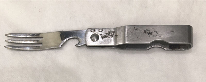 Vintage Stainless Boy Scouts of America Folding Camp Fork Can Opener Ships Free
