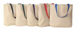 Liberty-Bags-ECO-Cotton-Canvas-Grocery-Tote-Reusable-Bag-School-Sport-8868-NEW