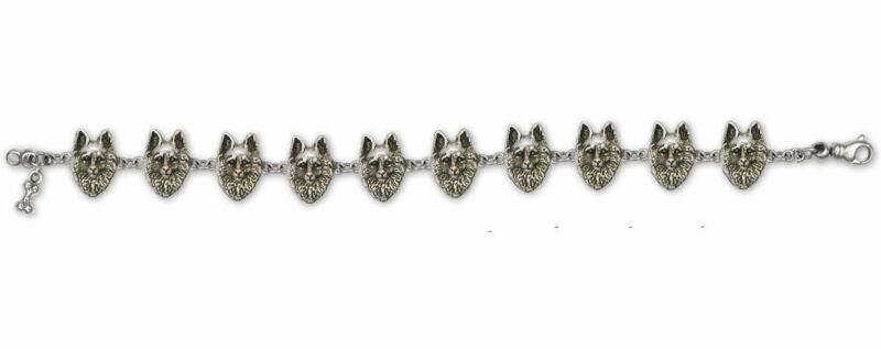 Schipperke Jewelry Sterling Silver Schipperke Bracelet Handmade Dog Jewelry SC1-