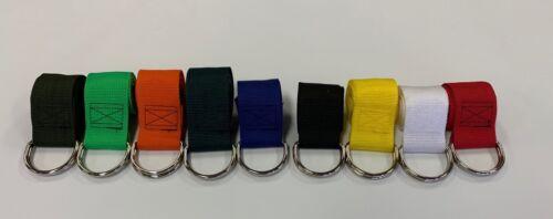 Metal D-Ring Yoga Strap 8