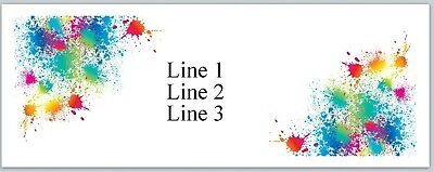 Personalized Address Labels Colorful Paint Splashes Buy 3 Get 1 Free Jx 547