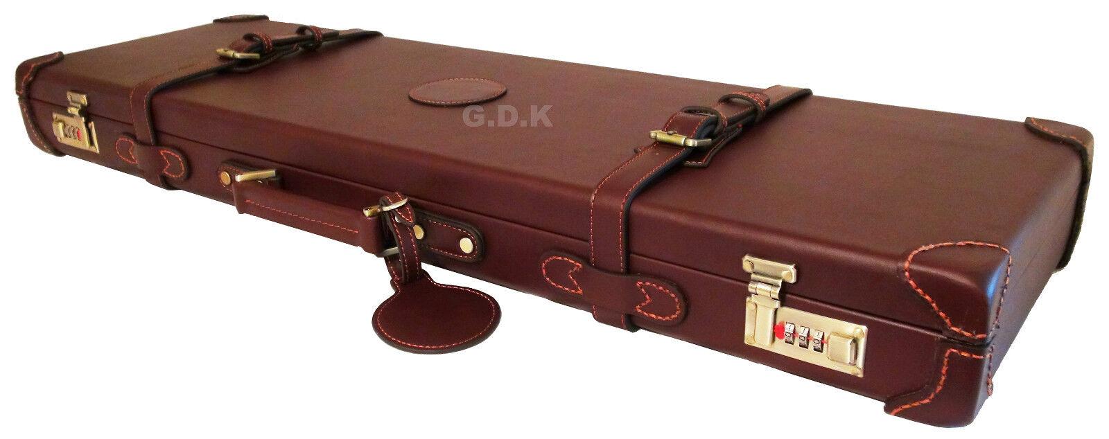 Dark Brown Guardian Leather Shotgun Case 26 32 Barrel