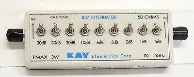 Kay Elemetrics Corp Attenuator 837 50 Ohms Dc 1.5ghz Pmax 3w