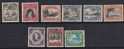 Cook Islands 1944-45 Set of 9 SG137-145 Good Mtd Mint - Cat £95
