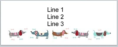Personalized Address Labels Cartoon Dachshund Dogs Buy 3 Get 1 Free Jx 339