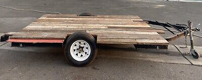 Motorcycle Trailer Utility Flatbed 1 Axle 9x13