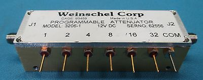 Weinschel Aeroflex 3206-1 Variable Attenautor 0 To 2000 Mhz 0 To 31 Db
