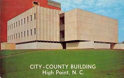 High Point North Carolina City County Building Vintage Postcard J64372