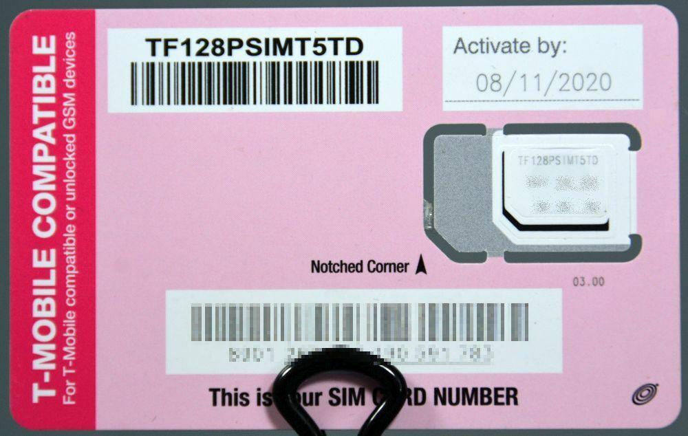 Tracfone T-Mobile GSM 4G LTE Tri Cut SIM Card Samsung iPhone