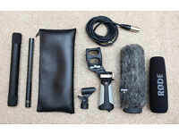 Rode NTG3 B Shotgun Condensor Microphone with extra Rode Accessories
