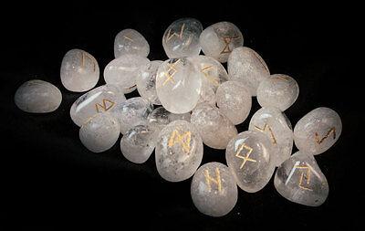 Weiß Magische Runensteine (Runen Ste-Kristall), weiß, neu