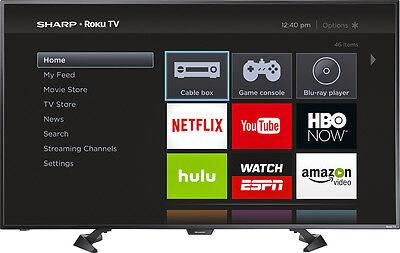 """Open-Box Certified: Sharp - 50"""" Class - LED - 1080p - Smart - HDTV Roku TV"""