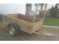 car trailer heavy duty 6ft 6in x 4ft 6in just been completely done up 7 leafspring suspension