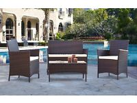 Garden Furniture Set Conservatory Patio Wicker Outdoor Chairs & Table