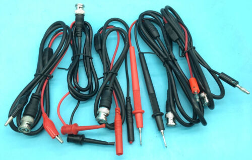 BNC Male to Banana plug Test hook/clip/multimeter pen test probe cable 1/1.5/2m