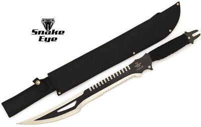 Snake Sword (Snake Eye Tactical Full Tang Double Serrated Fantasy Sword w/)