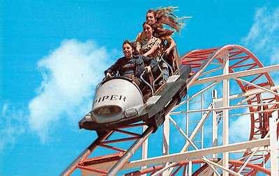 Santa Cruz California Jet Star amusement ride on boardwalk vintage pc Y11387