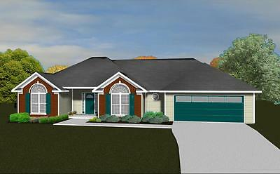 House Plans for 1650 Sq. Ft. 3 Bedroom House w/Garage