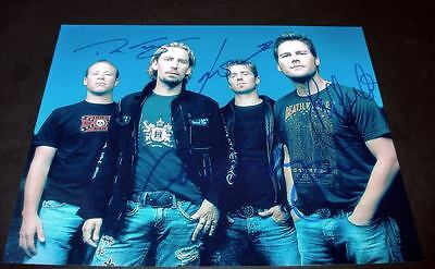 """NICKELBACK PP SIGNED 10X8"""" PHOTO REPRO Chad Kroeger"""