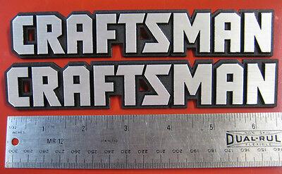 Set Of 2:craftsman Tool Box Badge:6 5/8,chest/cabinet Emblem,decal,sticker,logo