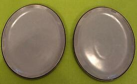 Denby Oval Platters black and grey