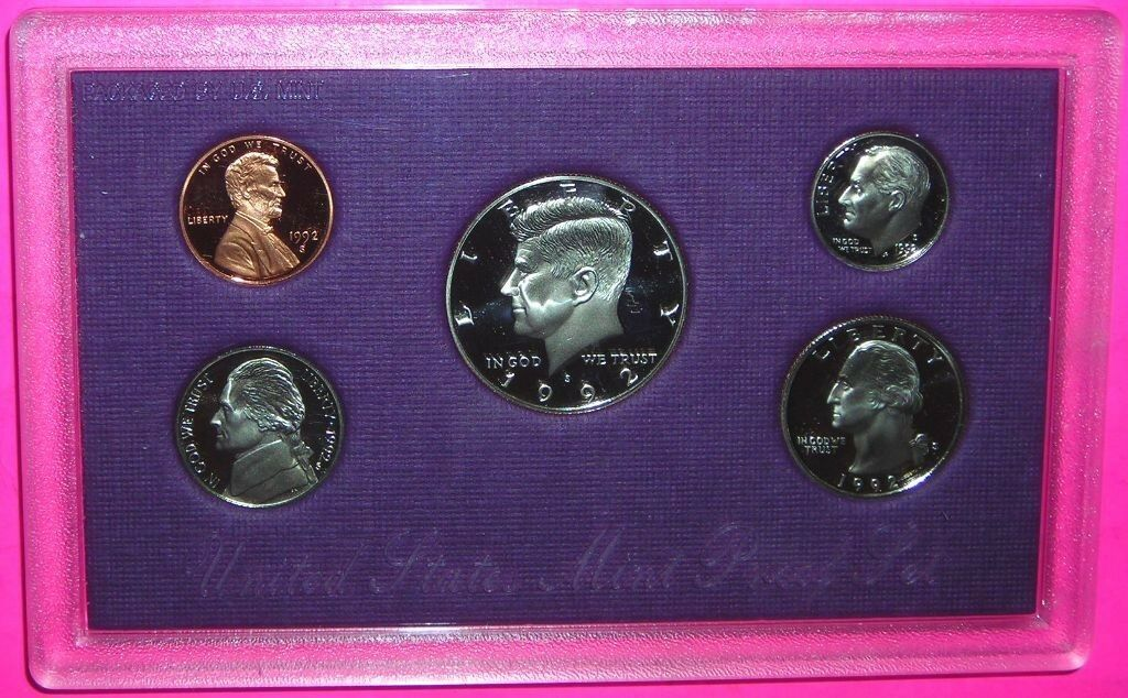 1992-S 1C- 0.50 Proof Set 5 Coin - $8.00