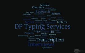 Typing Services Audio Transcription Letter Writing Document Production Typist Editor