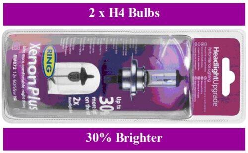 Ring Xenon Plus Headlight Bulb Upgrade - 30% brighter Includes 2 Bulbs (BU4)