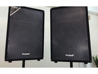 Prosound 500 Watt 15 inch Speakers with Covers and Stands