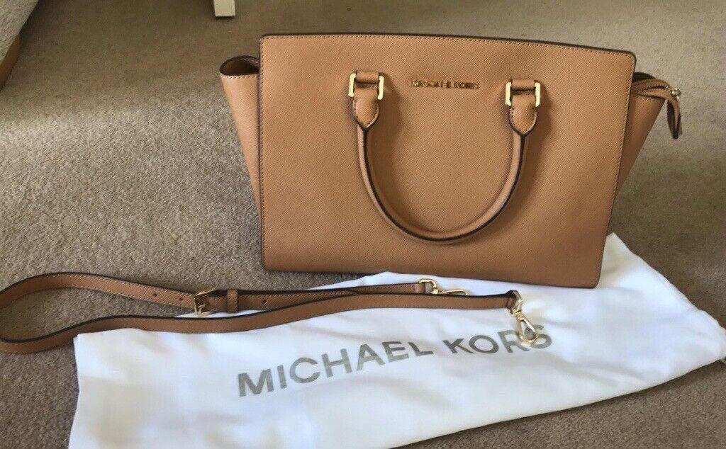 35b32aeb4d54 Michael Kors leather Selma Saffiano large satchel acorn colour