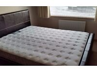 King size brown bed frame