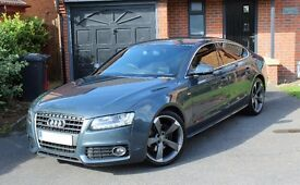 "Audi A5 2.0 TDI S Line Sportback Quattro 2011 200+BHP with Leather Navigation Cruise DVD 19"" Wheels"