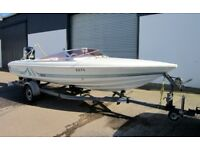 1990 Shetland Signature 1700SS (Haines 1700s) 17ft retro power/speed boat - 150 Mercury Black Max!