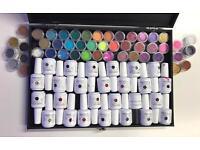 Gel nail kit: 27 high gloss colours 47 glitters