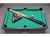 Compact Pool Table and Accessories.