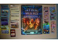 Star Wars Episode 1 Merlin Sticker Collection Album + spare stickers, Walkers scratch cards & Tazos