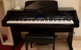 Electric Piano, Technics PR903 Glossy black, with stool. Excellent condition