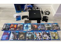 PS4 PRO 4K HD (1Tb) Console with games and accessories. Original packaging. Excellent condition.