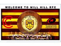 NEW PLAYERS WANTED! MILL HILL RFC WANTS YOU! ALL WELCOME!