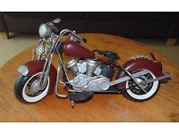 (#1) Large metal Harley davidson type bike ornament ex condition £45 ONO