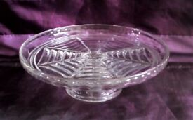 Vintage Short-Stem Glass Cake Stand