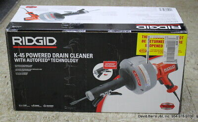 Ridgid 35473 K-45af Autofeed Drain Cleaning Machine With C-1 516 In. Inner Core