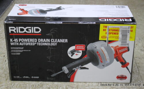 Ridgid 35473 K-45AF AUTOFEED Drain Cleaning Machine with C-1 5/16 in. Inner Core